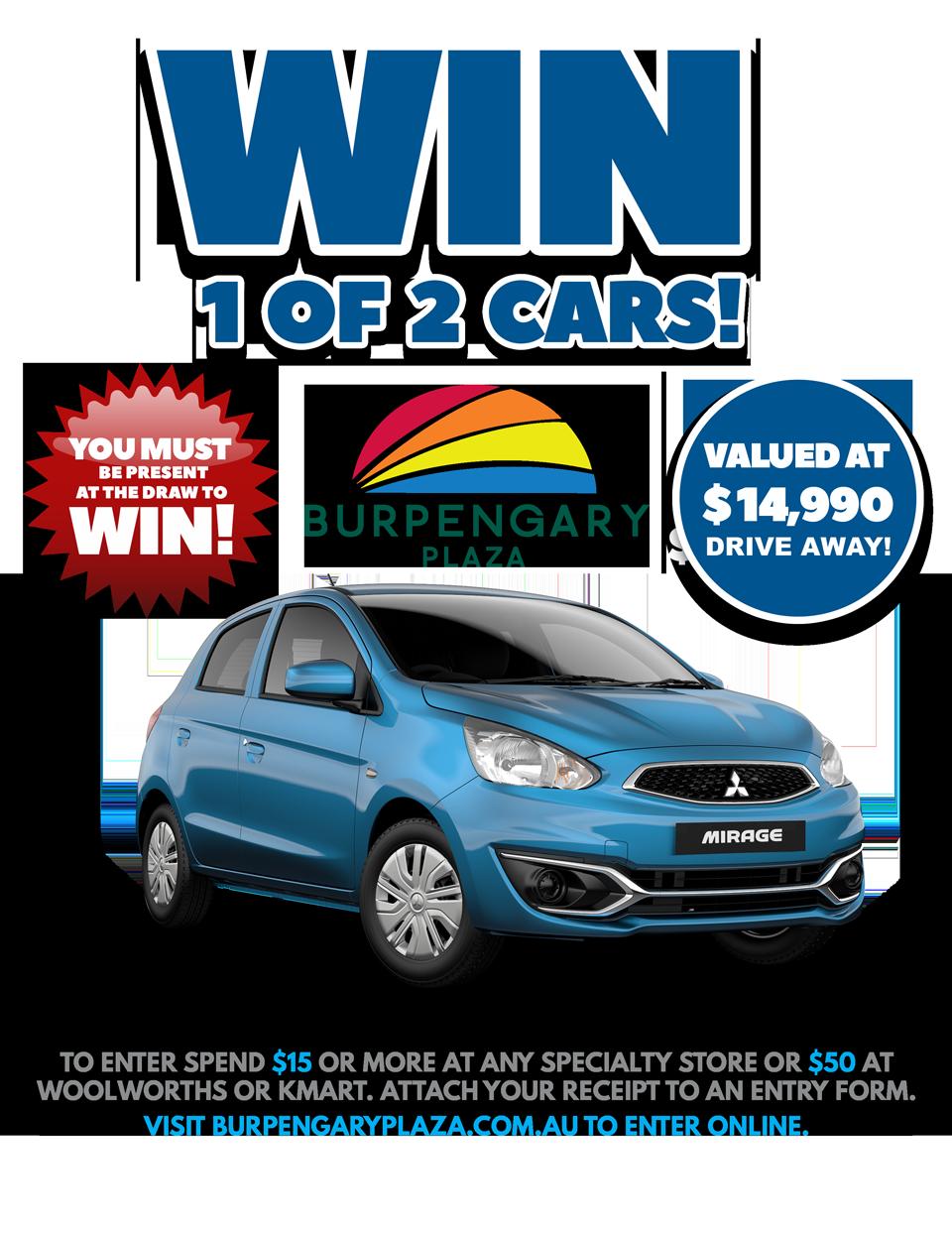 Win 1 of 2 Cars Burpengary Plaza   Burpengary Plaza